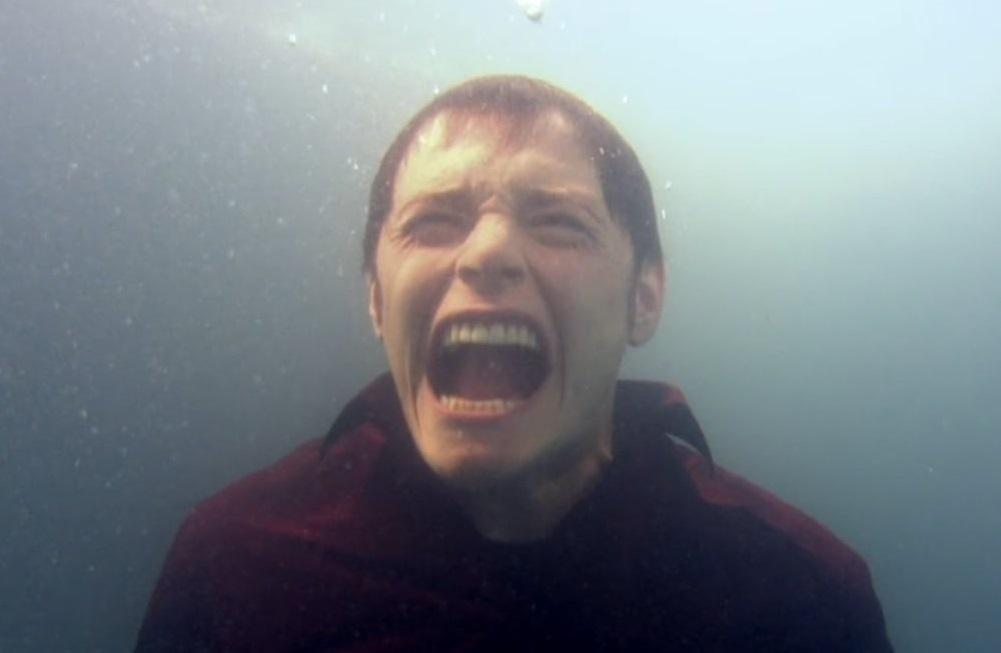 Owen Harper screaming underwater