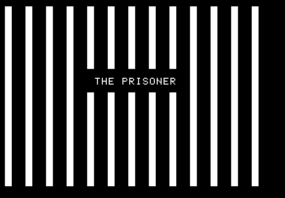 The title screen of The Prisoner for Apple II