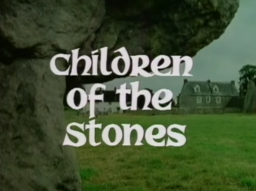 Children of the Stones title card from the intro